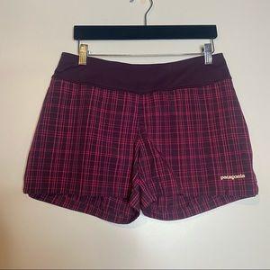 Patagonia Plaid Athletic Shorts